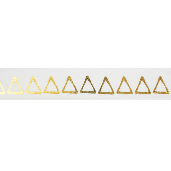 Gold Triangles Washi Tape