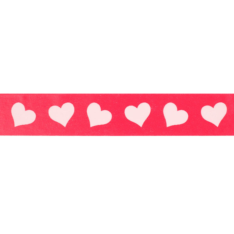 Dark Pink with Light Pink Hearts Washi Tape  Washi Tape Hello Party Essentials - Hello Party