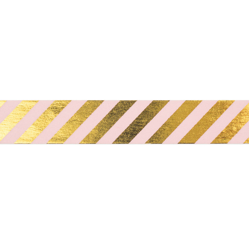 PInk and Gold Diagonal Striped Washi Tape  Washi Tape Hello Party Essentials - Hello Party