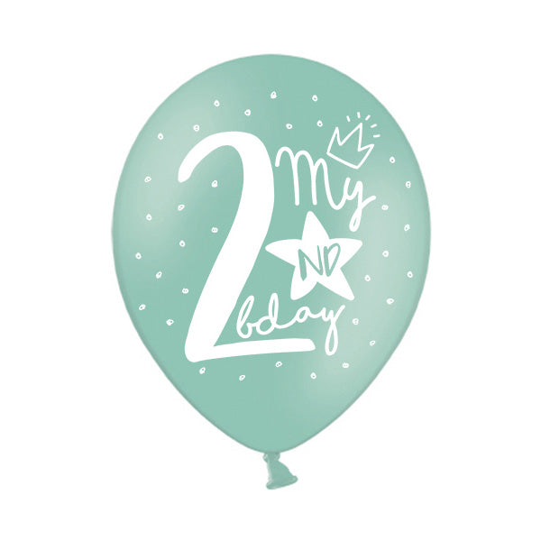 My 2nd Birthday Balloon (single)  Printed Latex Balloons Party Deco - Hello Party