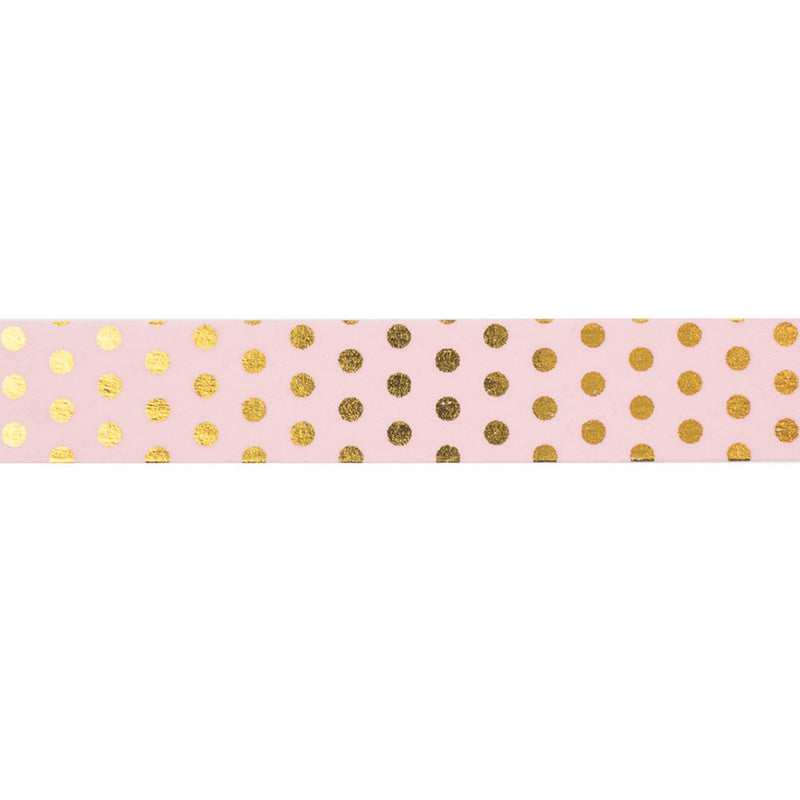 Pink with Gold Spots Washi Tape  Washi Tape Hello Party Essentials - Hello Party