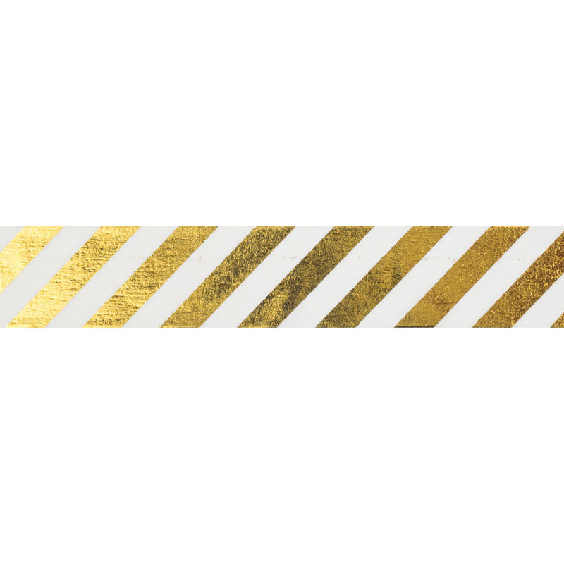 Gold Diagonal Striped Washi Tape  Washi Tape Hello Party Essentials - Hello Party