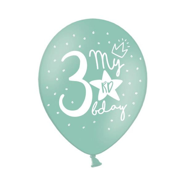 My 3rd Birthday Balloon (single)  Printed Latex Balloons Party Deco - Hello Party