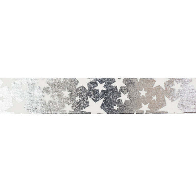 Silver with White stars Washi Tape  Washi Tape Hello Party Essentials - Hello Party