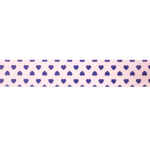 Pink with Purple Hearts Washi Tape