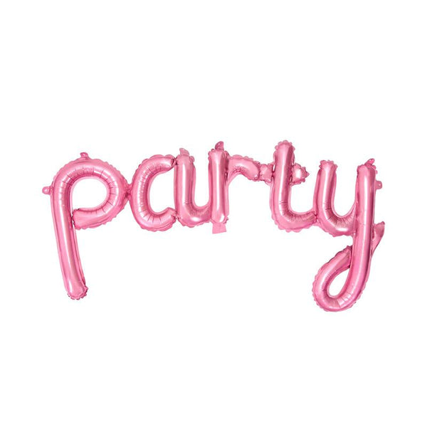 Party Script Pink Foil Balloon