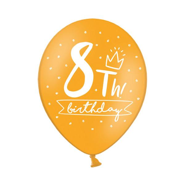 8th Birthday Balloon Single Printed Latex Balloons Party Deco