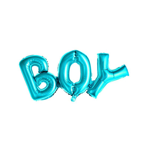 Boy Blue Foil Balloon  Word Foil Balloons Party Deco - Hello Party