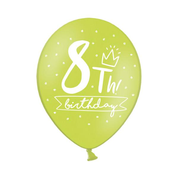 8th Birthday Balloon (single)  Printed Latex Balloons Party Deco - Hello Party