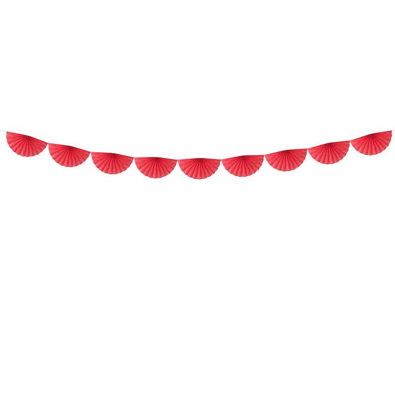 Tissue Fan Garland - Red  Tissue Fan Garland Party Deco - Hello Party