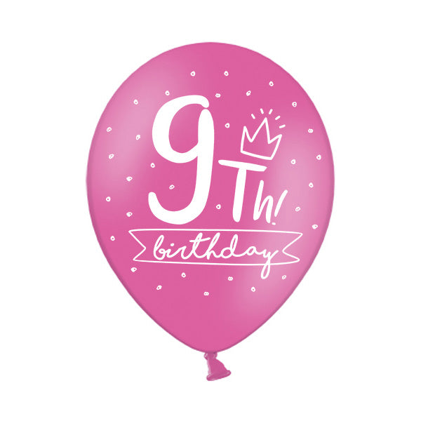 9th Birthday Balloon (single)  Printed Latex Balloons Party Deco - Hello Party