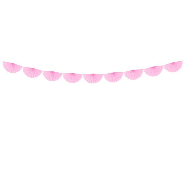 Tissue Fan Garland - Light Pink  Tissue Fan Garland Party Deco - Hello Party