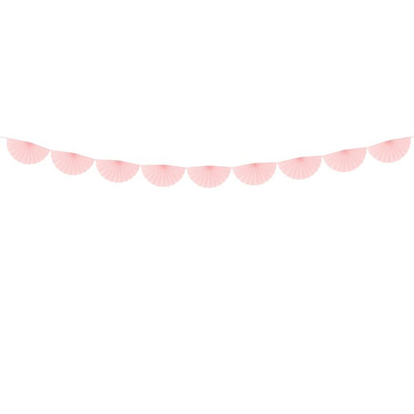 Tissue Fan Garland - Light Powder Pink  Tissue Fan Garland Party Deco - Hello Party