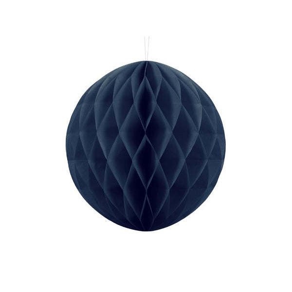 Navy Blue Honeycomb Ball 30cm  Honeycomb Balls Party Deco - Hello Party