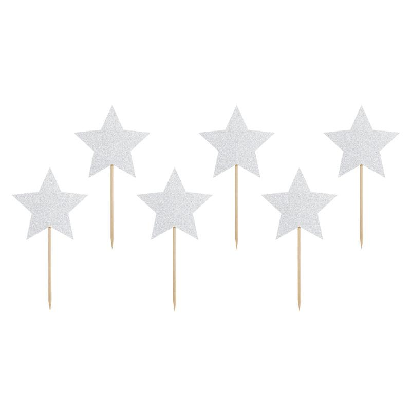 Star Cupcake Toppers  Cupcake Toppers Party Deco - Hello Party
