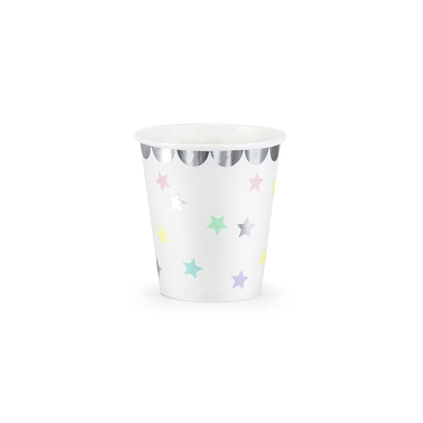 Pastel Rainbow Stars Unicorn Party Cups
