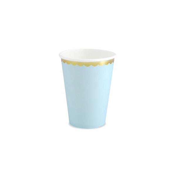 Pretty Pastels Light Blue Paper Cups