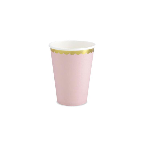 Pretty Pastels Light Pink Paper Cups  Party Cups Party Deco - Hello Party