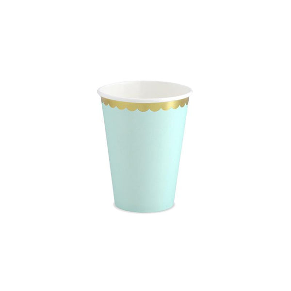 Pretty Pastels Mint Green Paper Cups  Party Cups Party Deco - Hello Party
