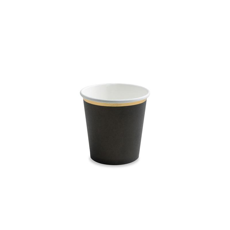 Mini Black & Gold Paper Cups  Party Cups Party Deco - Hello Party