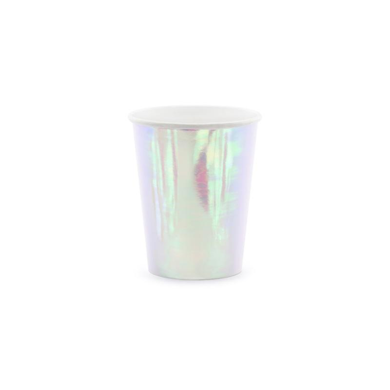 Iridescent Paper Cups  Party Cups Party Deco - Hello Party