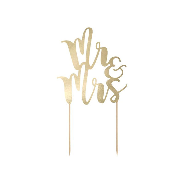 Mr & Mrs Script Cake Topper