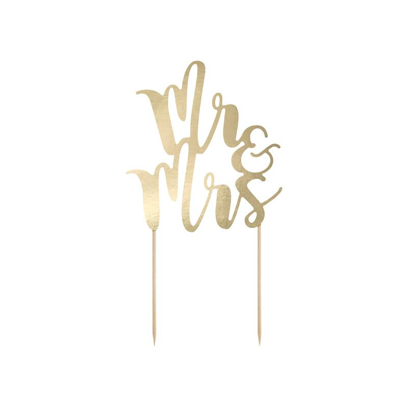Mr & Mrs Script Cake Topper  Cake Toppers Party Deco - Hello Party