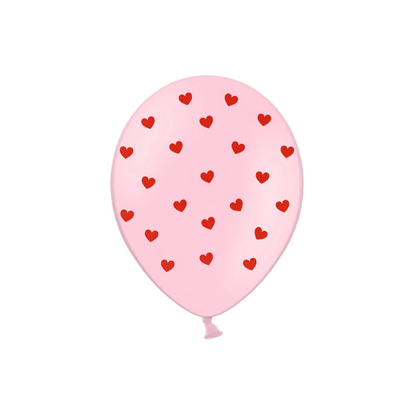 Little Red Hearts Pink Love & Valentine Balloons (pack of 5)