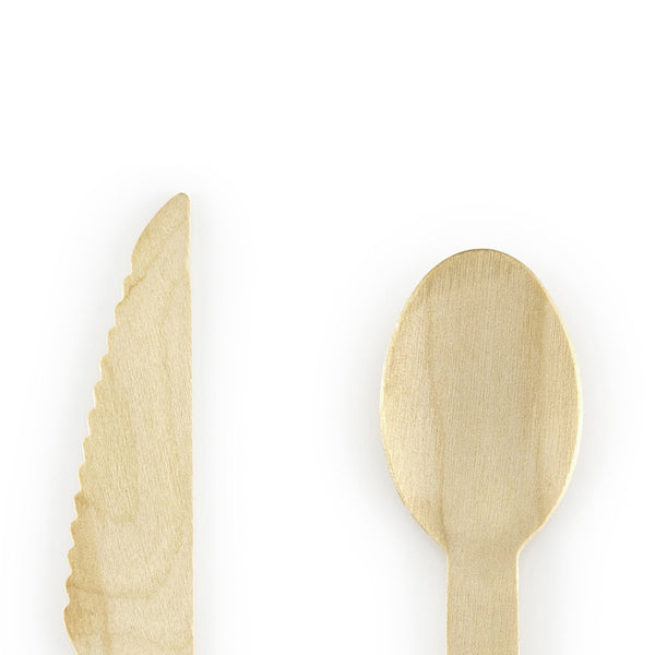 Wooden Cutlery Set  Party Cutlery Party Deco - Hello Party