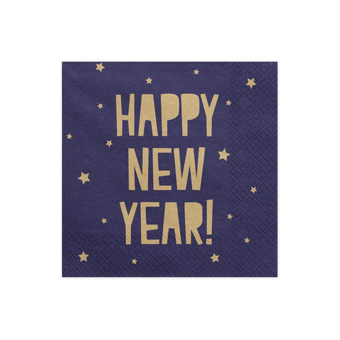 Navy Happy New Year Napkins