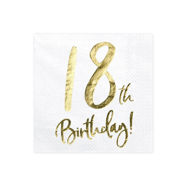 18th Birthday Napkins  Napkins Party Deco - Hello Party