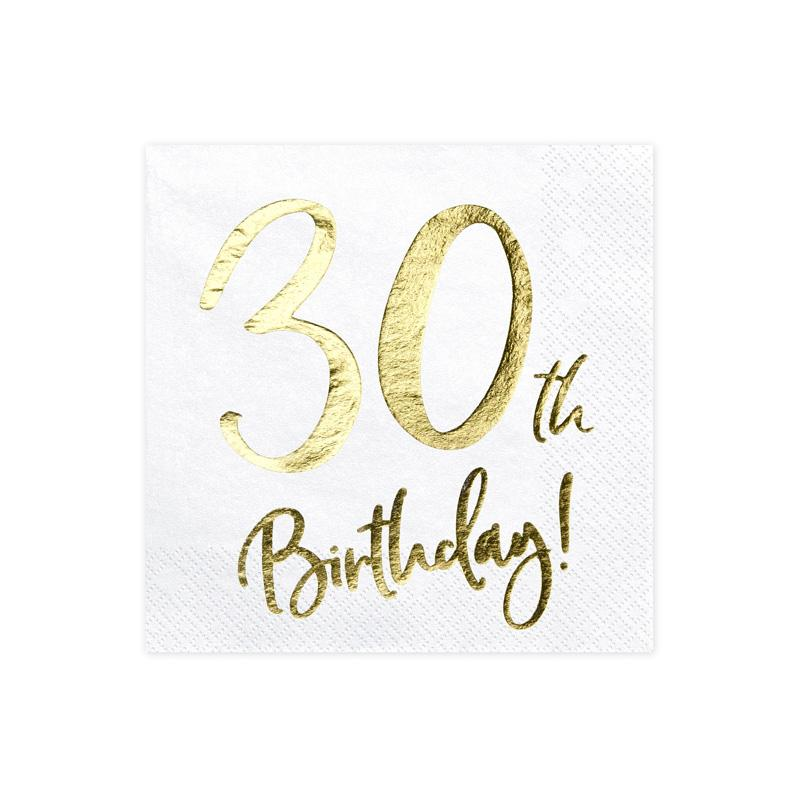 30th Birthday Napkins  Napkins Party Deco - Hello Party