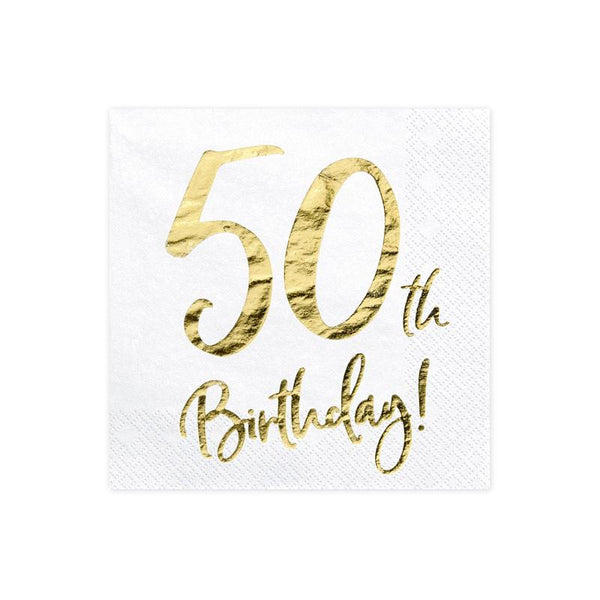 50th Birthday Napkins  Napkins Party Deco - Hello Party
