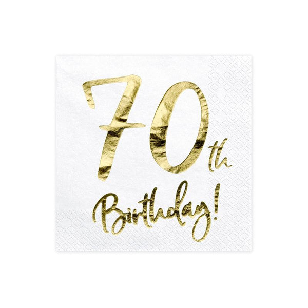 70th Birthday Napkins  Napkins Party Deco - Hello Party