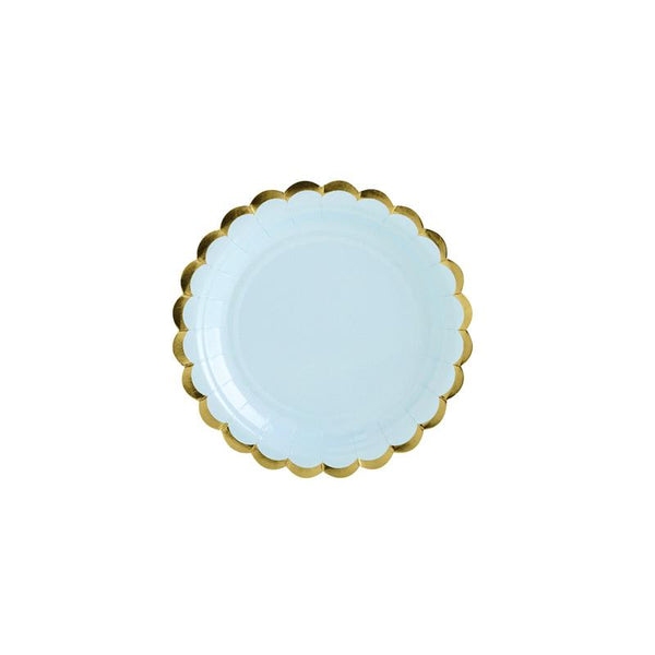 Pretty Pastels Light Blue Plates