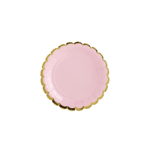 Pretty Pastels Light Pink Plates  Party Plates Party Deco - Hello Party