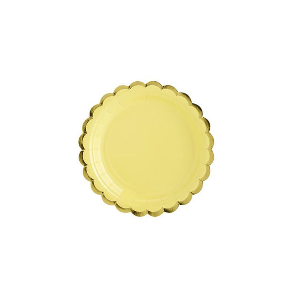 Pretty Pastels Yellow Plates