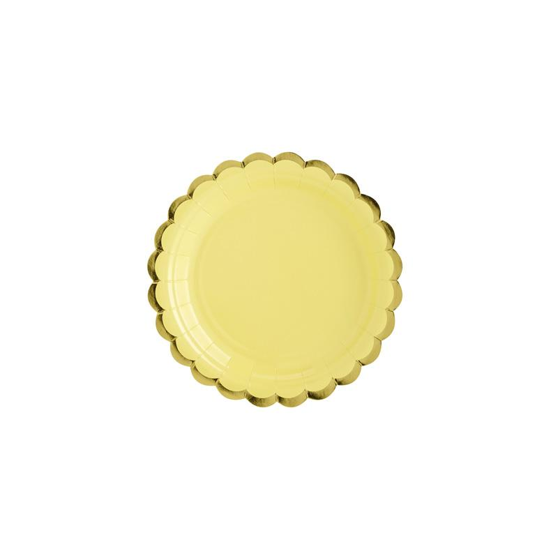 Pretty Pastels Yellow Plates  Party Plates Party Deco - Hello Party