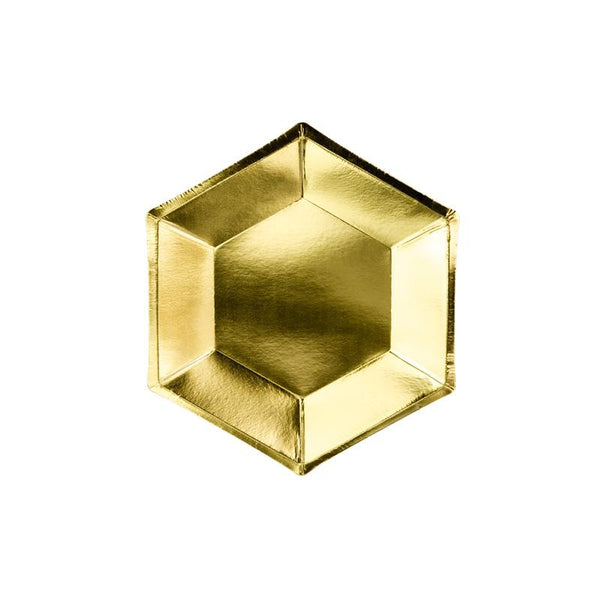 Luxe Hexagonal Gold Plates