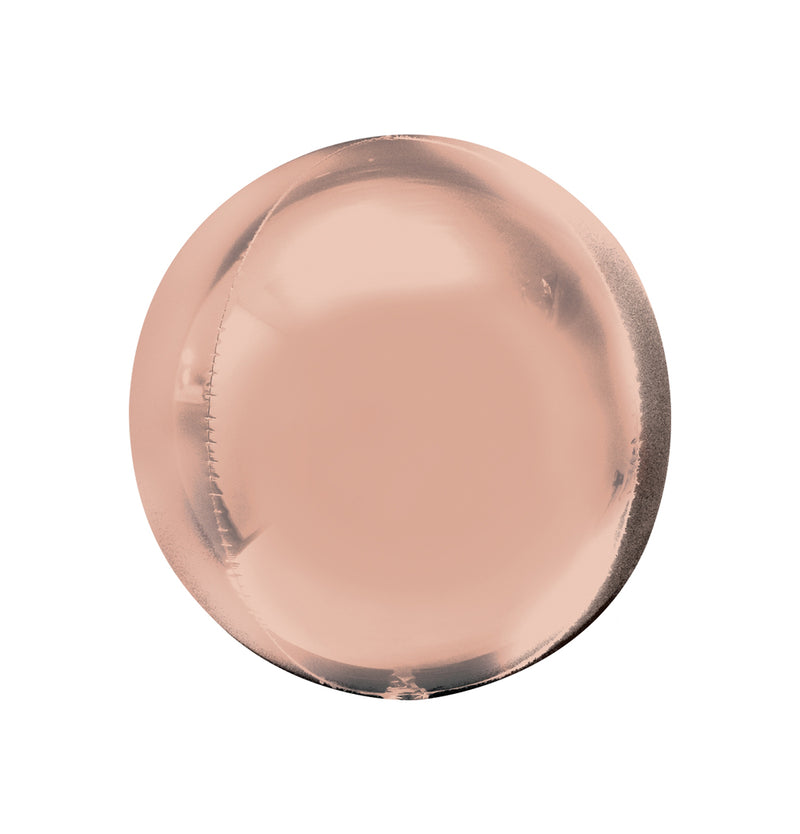 "Rose Gold Orbz Balloon (16"")  orb balloon Anagram - Hello Party"