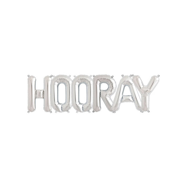 HOORAY - Silver 16 inch Foil Letter Pack