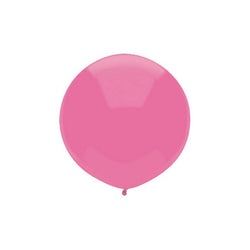 "Large Round Pink Balloon 17""  Big Round Latex Balloons Hello Party Essentials - Hello Party"