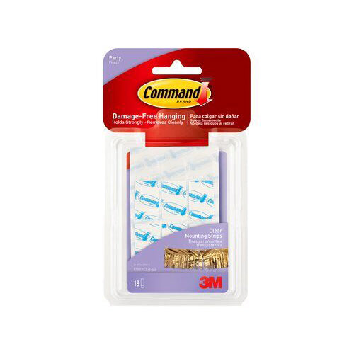 Command™ Clear Mounting Strips