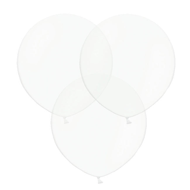 "Clear Big Round Balloon 19"" (Pack of 3)  Big Round Latex Balloons Hello Party Essentials - Hello Party"