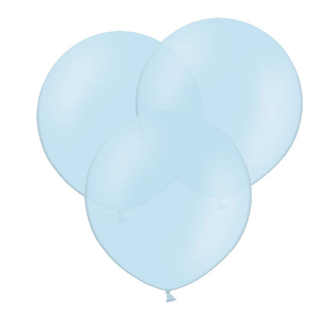 "Sky Blue Big Round Balloon 19"" (Pack of 3)  Big Round Latex Balloons Hello Party Essentials - Hello Party"