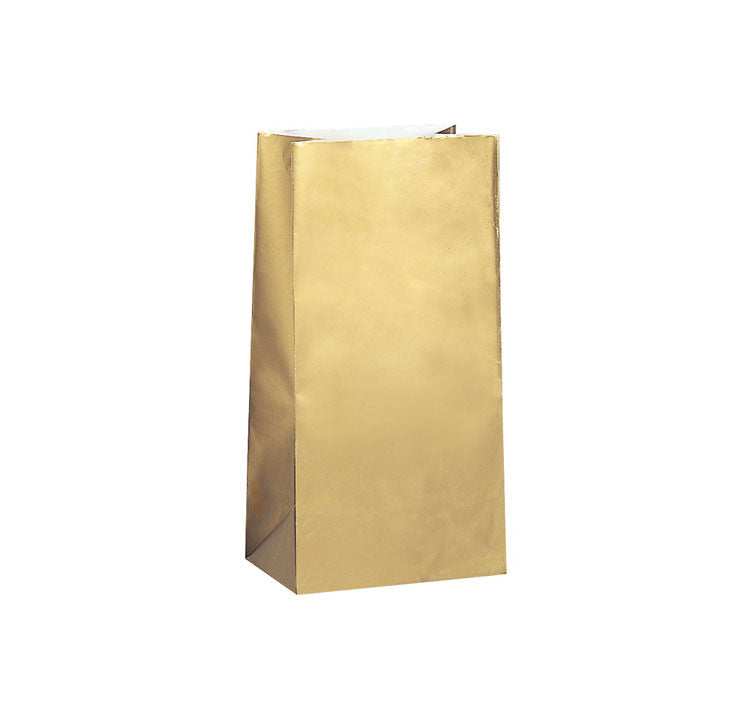 Gold Paper Sweet Bags (Pack of 12)
