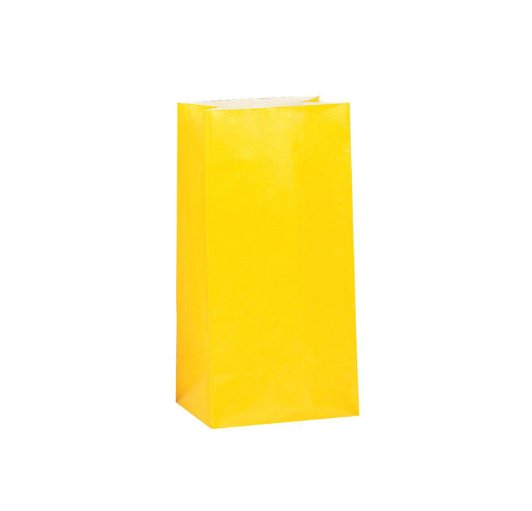 Yellow Paper Sweet Bags  Party Bags Hello Party - All you need to make your party perfect!  - Hello Party