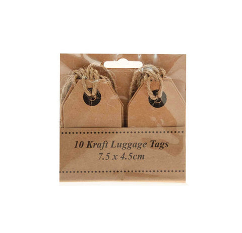 Kraft Luggage Tags (Pack of 12)