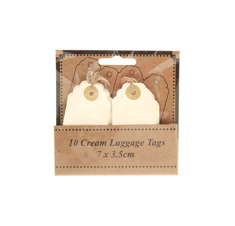Scalloped Ivory Luggage Tags (Pack of 12)