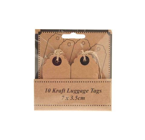 Scalloped Kraft Luggage Tags (Pack of 12)